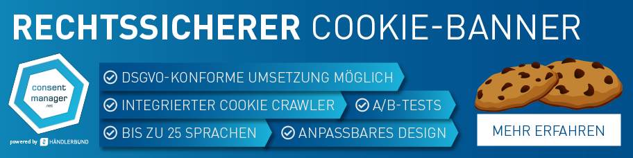 Banner Cookie-Banner-Lösung Consentmanager